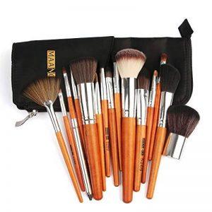 TAOtTAO 15pcs Cosmétique Maquillage Brosse Pinceaux Fond de Teint Poudre Fard à paupières Brosse avec Sac de la marque TAOtTAO image 0 produit