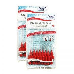 TePe brossettes interdentaires (2 x 8 pc) 16 brossettes (0.50mm Rouge) de la marque TePe image 0 produit