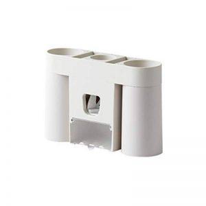 Thetooth Support pour brosses à Dents, Support de Brosse à Dents électrique Accessoires de Salle de Bain ventouses pour Brosse à Dents à Fixation Murale (Gris/Gray Blanc Chaud) de la marque Thetooth image 0 produit