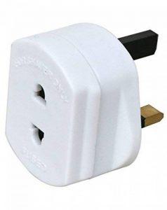 Top Qualité UK 1Un Adaptateur Rasoir électrique Brosse à Dents Prise convertisseur 2à 3Broches de la marque G4GADGET image 0 produit