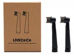 Tête de rechange LiveCoco pour brosse à dents électrique Oral-B - Avec fibres de charbon de bois - Créées pour le blanchissement des dents grce au pouvoir actif du charbon - 100% recyclable par le corps de la marque LiveCoco image 0 produit
