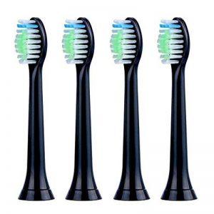 Têtes de brosse de rechange pour brosse à dents électrique Philips Sonicare Sonic Poignées, coupe DiamondClean 2Série 3Série FlexCare Heallthywhite EasyClean (lot de 4) de la marque WANGGUY image 0 produit