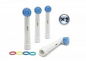 UCA® ebs17 - 8 Têtes de brosse à dents électrique compatible avec Braun Oral B 3D de rechange Sensitive Clean de la marque UCA image 0 produit