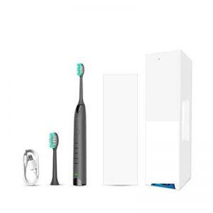 une brosse à dents avec des modes de remplacement 2 chefs, 5 brosse à construire en chrono de 2 minutes, usb vite de tarification ipx7 étanches, grey de la marque SODKK image 0 produit