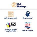 Wallmonkeys Fille brossage SES dents Peel et bâton Stickers muraux Wm102385(18en L x 12en H) de la marque Wallmonkeys Wall Decals image 3 produit