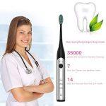 weixinbuy Brosse à dents électrique brosse à dents sonique avec 3modes optionnels imperméable entièrement lavable 3têtes de rechange noires/hpc-s200 de la marque Weixinbuy image 4 produit