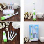 XUAN Brosse à dents électrique de taille de la famille de base quatre tête de brosse rotative Brosse à dents électrique de la marque Toothbrushes image 1 produit