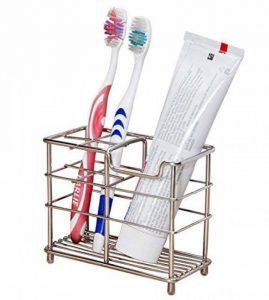 ZenCT Porte-brosse à dents, Support à dentifrice, Organisateur de salle de bain, Acier inoxydable, 12X6X10cm de la marque ZenCT image 0 produit
